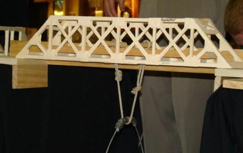 JHS Bridge-building teams compete