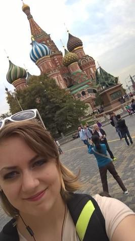 St. Basil's selfie
